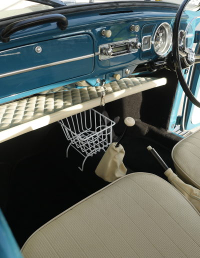 VW Beetle Diamond Stitching